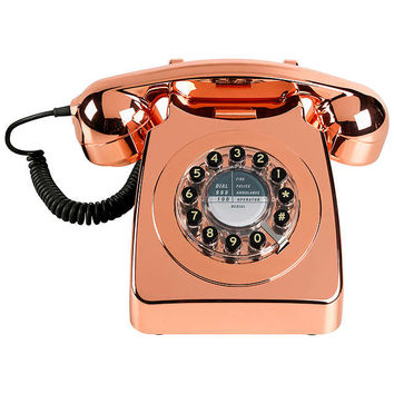 Wild & Wolf 746 1960s Corded Telephone, Copper at John Lewis