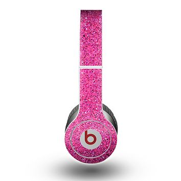 The Pink Sparkly Glitter Ultra Metallic Skin for the Beats by Dre Original Solo-Solo HD Headphones