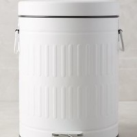Powder-Coated Trash Can by Anthropologie in White Size: One Size Office