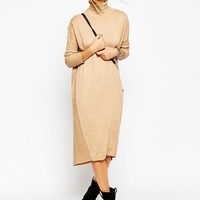 ASOS Midi Jumper Dress With Roll Neck