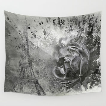 Last Time I Saw Paris Wall Tapestry by Theresa Campbell D'August Art