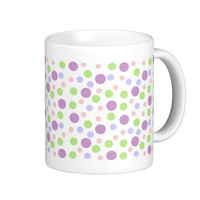 Pastel Girly Polka Dot Pattern Classic White Coffee Mug