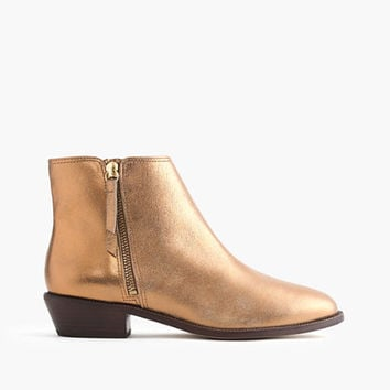 J.Crew Womens Frankie Ankle Boots In Dark Gold