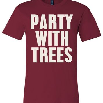 Official NCAA Stanford University Cardinal SU The Stanford Tree ALL RIGHT NOW! Party With Trees Unisex T-Shirt - stan1002