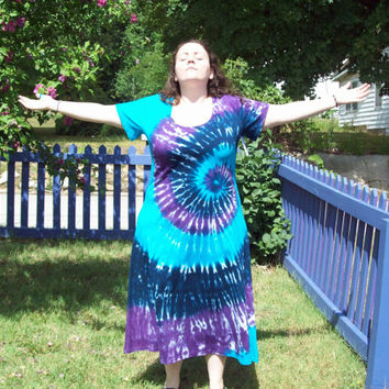 Tie Dye Dress -XL, 2XL, 3XL - Plus Size- River Tie Dye