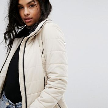 Vero Moda Panel Detail Padded Jacket at asos.com