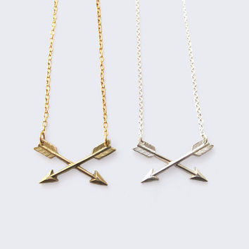 Best Arrows Crossed Necklace