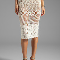 Spell & The Gypsy Collective Coconut Crochet Skirt in Off White from REVOLVEclothing.com