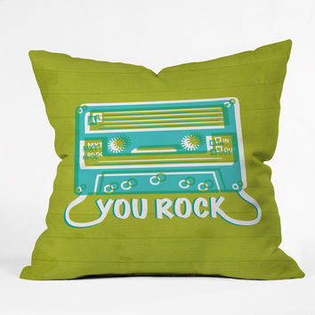 Heather Dutton You Rock Throw Pillow