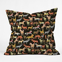 Sharon Turner Deer Horse Ikat Party Throw Pillow