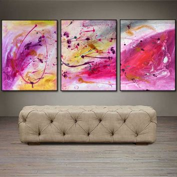 """'Peace Within'  - 48"""" X 20"""" Original Abstract  Art.  Free-shipping within USA & 30 day return Policy."""
