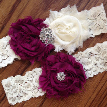 SALE Wedding Garter Set, Bridal Garter Set - Custom Garter, Lace Garter, Pearl Rhinestone Garter, Customized, Ivory Lace, Bridal Shower Gift