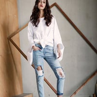white blouse,womens blouses,womens tops,white shirt women,long sleeve blouse,long sleeve top,unique top,fashion too,puff sleeve.--E0653