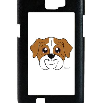 Cute Bulldog - Red Galaxy Note 2 Case  by TooLoud
