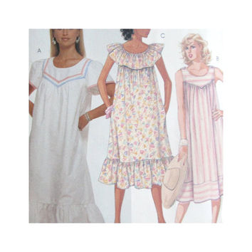 Uncut Vintage McCalls 3200 Misses Casual Pullover Dress MuuMuu Size 10-12