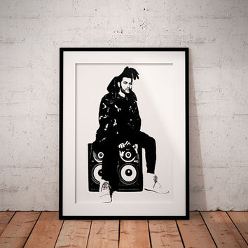 The weeknd posterPrint - The weeknd music wall art decor  poster Print