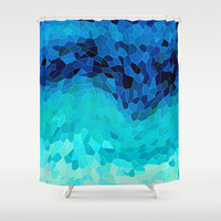 INVITE TO BLUE Shower Curtain by Catspaws