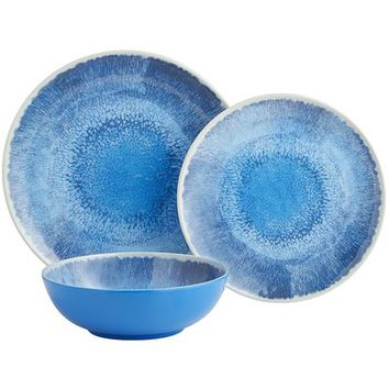 Waterways Melamine Dinnerware - Blue