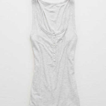 Aerie Real Soft® Tank , Light Heather