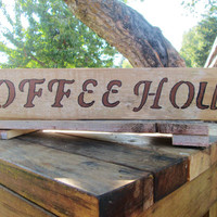 Rustic Coffee Sign, Coffee Sign, Rustic Sign, Wood Sign, Rustic Wood Sign