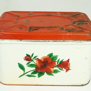 Vintage Vented Bread Box / Pie Safe / Cake Tin National Can Corporation New York