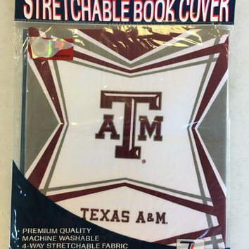 NCAA TEXAS A&M AGGIES GIG 'EM STRETCHABLE BOOK COVER SHIPPING