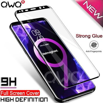 9H Tempered Glass For Samsung Galaxy s8 plus glass note 8 S9 Screen Protector 6D Film For Samsung s6 s7 edge Full Cover Glass
