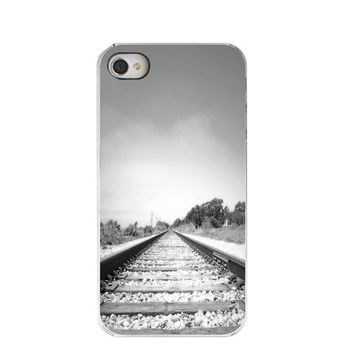 iphone Case Fathers Day Train Tracks iphone 4 by Maddenphotography