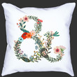 Floral Monogram Pillow