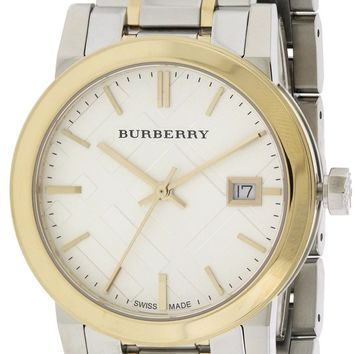 Burberry Check Dial Two-Tone Watch BU9115