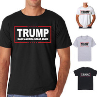 Donald Trump For President 2016 T Shirt Make America Great Again Men T-shirt New