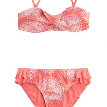 MEDALLION BANDEAU BIKINI SWIMSUIT | GIRLS BIKINIS SWIMSUITS | SHOP JUSTICE
