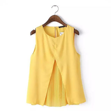 Summer Stylish Women's Fashion Sleeveless Round-neck Scarf [6047073473]
