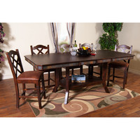 Sunny Designs Santa Fe Collection Six Piece Dining Set In Dark Chocolate