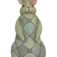 Jim Shore Heartwood Creek Grey Rabbit Garden Statue - 6001601