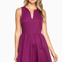 ShopSosie Style : Celia Skater Dress in Purple