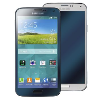 Galaxy S5 Titanium Blue GlassShield Luxury Screen Protection