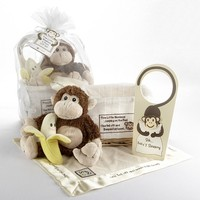 Five Little Monkeys- Five Piece Gift Set with Keepsake Basket