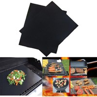 PTFE Non-stick BBQ Grill Mat Barbecue Baking Liners Reusable Teflon Cooking Sheets 33x40cm Cooking Tool