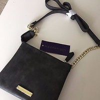 BNWT Steve Madden Madden Girl Two Pocket Gray Cross Body Purse