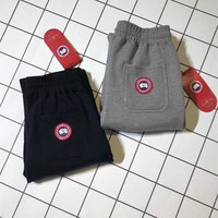 """Canada Goose"" Unisex Simple Casual Logo Embroidery Thickened Sweatpants Couple Leisure Pants Trousers"