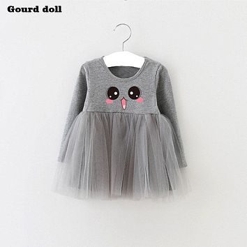 Baby Girls New Summer Dress Infant Party Dress For 4-24M Toddler Girl Brithday Baptism 3 colors Clothes Double Formal Dresses