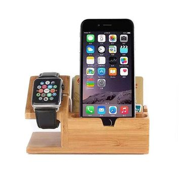 New Wood Charging Dock For iPhone & Apple Watch