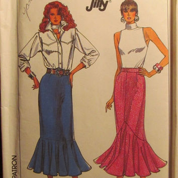 SALE Uncut 1980's Simplicity Sewing Pattern, 8134! Size 18/Large/Women's/Misses Tiered Skirts/Ankle Length/Flared Flounce/Spring/Summer