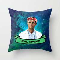 Evil Spawn Throw Pillow by Drmedusagrey