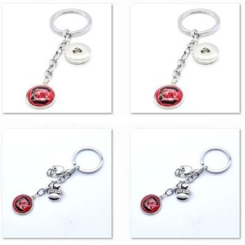 2017 New Football Keychain NCAA South Carolina Gamecocks Charm Key Chain Car Keyring for Women Men Party Birthday Keyrings Gifts