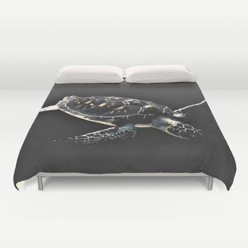 Turtle Duvet Cover by Animilustration   Society6