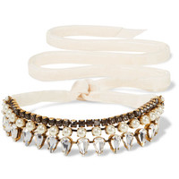 Erickson Beamon - Born Again gold-plated, Swarovski crystal and faux pearl choker