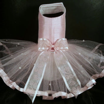 Princess Dog Harness Dress. XXSmall Dog Dress to XXLarge Dog Dresses, Tutu Dog Dress. Dog Wedding Dress, Designer Dog Dress, Cat Clothes.