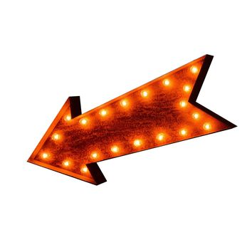 "24"" Arrow Vintage Marquee Sign with Lights (Rustic)"